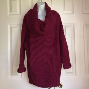 Umgee Size Large Maroon Sweater With Scarf